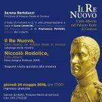 """Palazzo Reale di Genova: 24 maggio 2018 """"Il Nuovo Re"""""""